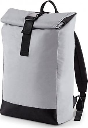 BagBase Reflective Roll Top Backpack (One Size, Silver Reflective)