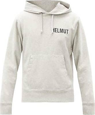 Helmut Lang Glowcore Printed Cotton Jersey Hooded Sweatshirt - Mens - Grey