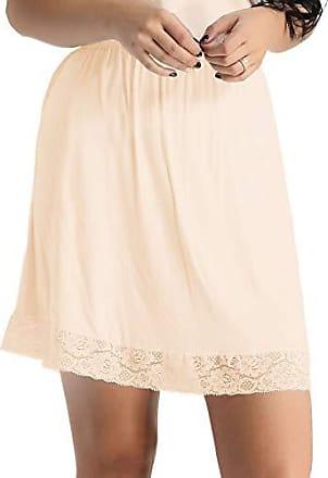 Damen Unterrock schwarz  Minirock Rock Unterkleid  beige weiß Halbrock