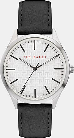 Ted Baker Pebble Grain Leather Strap Watch in Black MANHAAC, Mens Accessories