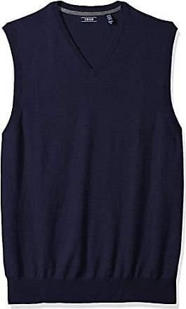 Izod Mens Big and Tall Premium Essentials Solid V-Neck 12 Gauge Sweater Vest, New Peacoat, 5X-Large