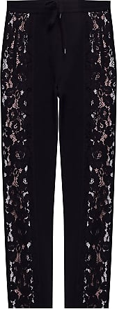N°21 Lace-trimmed Track Pants Womens Black