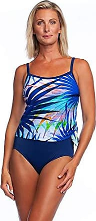 3228d4cda00e7 Maxine Of Hollywood Womens Scoop Neck Faux Side Tie One Piece Swimsuit,  Navy//