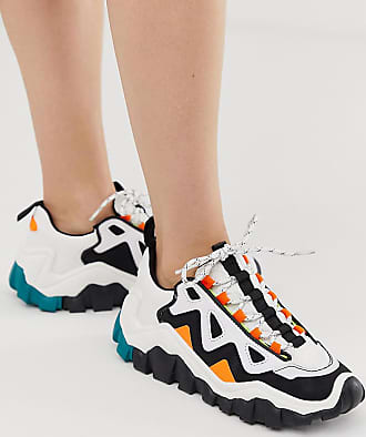 17757e351 Bershka chunky colourblock trainers in multi