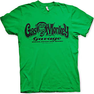 Gas Monkey Garage Officially Licensed Logo Mens T-Shirt (Green), XX-Large