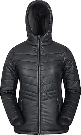 Mountain Warehouse Turbine Womens Padded Softshell - Lightweight Padding Ladies Shell Jacket, Softshell Stretch Panels, Flexible - for Travelling, Camping Black 14