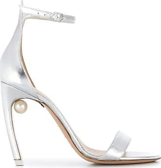 Nicholas Kirkwood Fashion Womens 909A75NLM2N90 Silver Sandals | Season Outlet