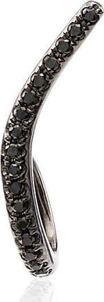 Yvonne Léon Ligne 18kt black gold diamond earring - METALLIC