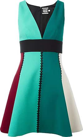 FAUSTO PUGLISI Vestido color block - Verde