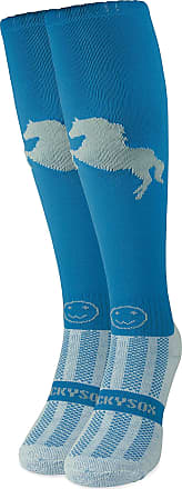 Wackysox Stressage Diva Blue and Silver Equestrian Riding Socks