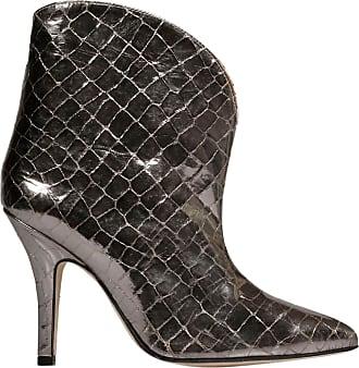 PARIS TEXAS Fashion Womens PX178CNCOCONUTPRINT Black Ankle Boots | Autumn-Winter 19