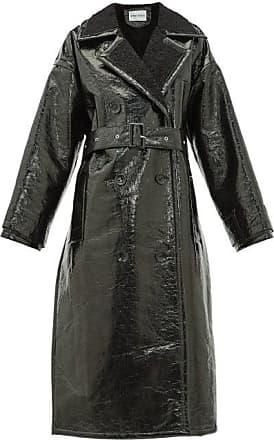 Stand Studio Marissa Faux-shearling Trench Coat - Womens - Black
