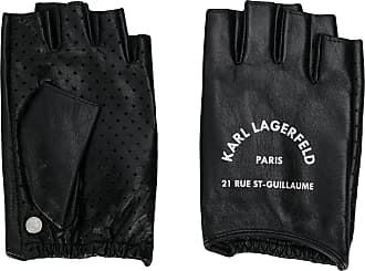 Karl Lagerfeld Par de luvas Rue St Guillaume sem dedos - Preto