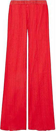 b28ca35d Balmain Pierre Balmain Woman Cotton-jacquard Wide-leg Pants Tomato Red Size  36