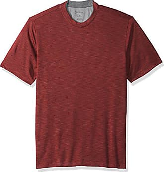 Van Heusen Mens Air Short Sleeve Doubler Crew Neck Tee, deep Oxblood, Small