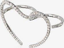 Yvonne Léon Womens Silver 18k Gold And Diamond Double Ring