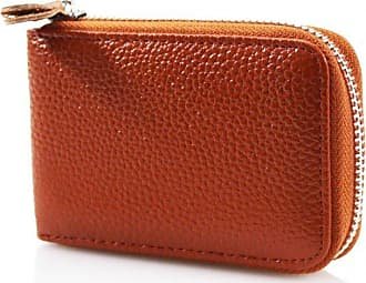Your Dezire Ladies Womens Soft Leather Small Single Zip Coin Bag/Pouch/Wallet/Coin/Key Purse New Tan