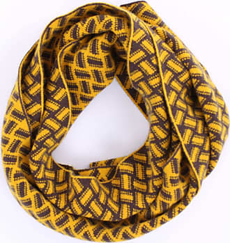 Drumohr Scarves Yellow and brown