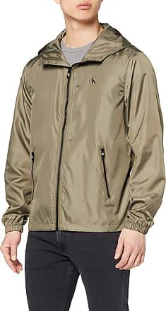 Calvin Klein Jeans Mens Zip Through HD Jacket, Green (New Basil MSP), Small (Size:S)