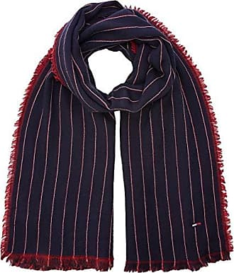 Tommy Hilfiger Double Sided Stripes Scarf, Echarpe Homme, Bleu Navy Tommy  Red 902 94efed759e7