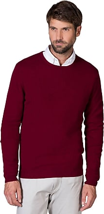 WoolOvers Mens New Cashmere Crew Neck Knitted Sweater Berry, M
