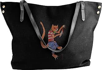 Juju Pirate Cat Womens Classic Shoulder Portable Big Tote Handbag Work Canvas Bags