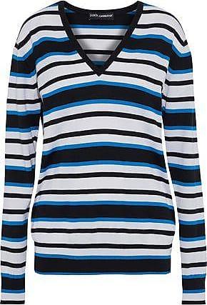 Dolce   Gabbana Dolce   Gabbana Woman Striped Cashmere And Silk-blend  Sweater Black Size 0ceb1f7ec
