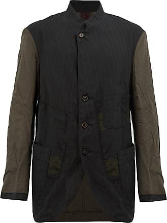 Ziggy Chen contrast sleeves jacket - Black