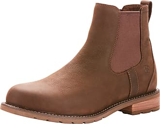 Ariat Mens Wexford Waterproof Boots in Java Leather, D Medium Width, Size 10.5, by Ariat