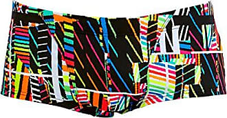 Funky Trunks  Badehose Herren Badeshort Schwimmhose schwarz swim Streifen XS-XL