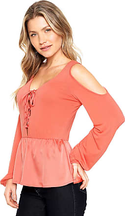 Lucy in the Sky Blusa Lucy in The Sky Off Shoulder Laranja