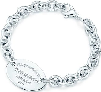 Tiffany & Co. Return to Tiffany Armband mit ovalem Anhänger in Sterlingsilber, X-Small - Size Extra Small