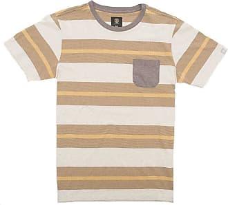 Element Camiseta Element Striped Amarelo/marrom