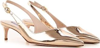 Stuart Weitzman Sandals for Women On Sale, Gold Mirror, Patent, 2017, 10