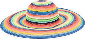 Eugenia Kim Bunny rainbow-stripe hat - Blue