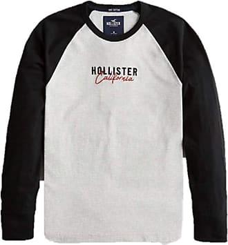 Hollister New Crew Neck Colour-Block Logo Graphic T-Shirt TEE top Men SZ: Medium/M Black