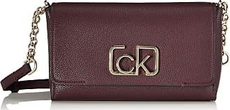 Calvin Klein Womens Ck Cast Flap Xbody Cross-Body Bag Red (Merlot), 8x16x25 cm (W x H x L)