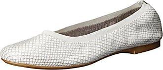 Aerosoles Womens Fable Ballet Flat, Silver Snake, 5.5 M US