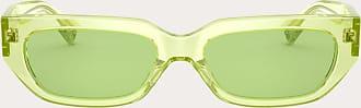 Valentino Valentino Occhiali Vlogo Squared Acetate Frame Women Green Acetate 100% OneSize