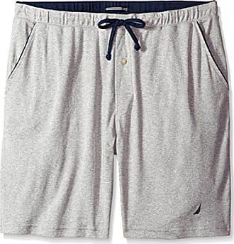 d0641aaf3dd Nautica Big and Tall Mens Knit Sleep Lounge Short, Grey Heather 1X