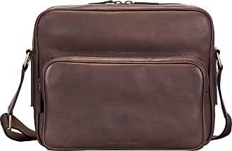 Maxwell Scott Maxwell Scott - Luxury Brown Italian Leather Mens Messenger Bag