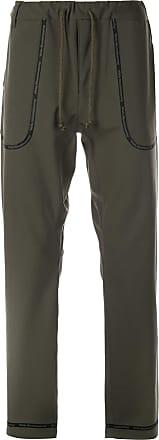White Mountaineering Calça com detalhe de logo - Verde