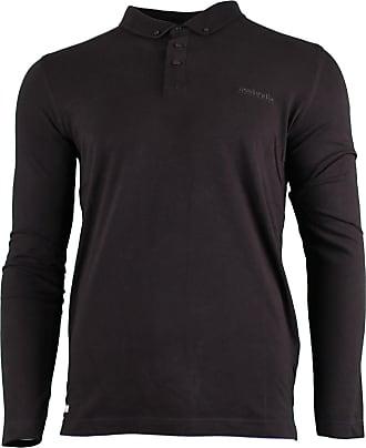 Lambretta Mens Long Sleeve Smart Casual Retro Polo Shirts 3XL Brown