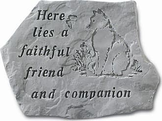 Kay Berry Here Lies A Faithful Friend Pet Memorial Garden Accent Stone - Cat - 67820