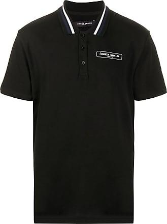 Frankie Morello Camisa polo com logo - Preto