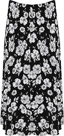 Top Fashion18 Top Fashion Ladies Plus Size Floral Midi Skirt UK Size 16-30