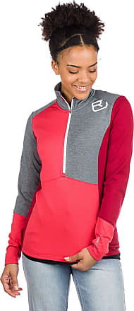 Ortovox Light Zip Neck Baselayer Top hot coral