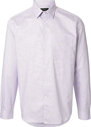Durban long-sleeved grid shirt - PURPLE