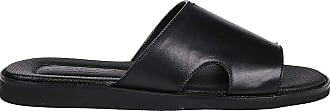 Doucal's Black Leather Sandals, 42.5