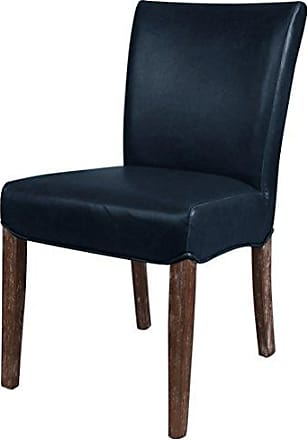 New Pacific Direct 198235B-V05 Beverly Hills Bonded Leather, Set of 2 Dining Chairs, Vintage Blue